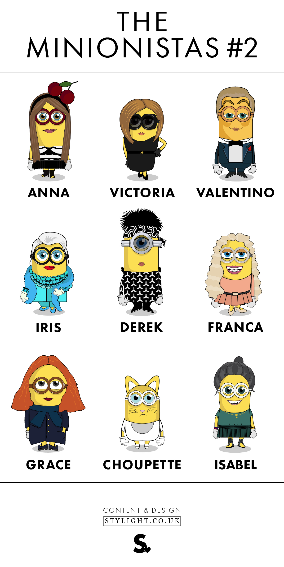 Minions Stylight Minionistas Infographic Blogger Edition